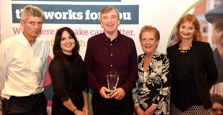 The Healthwatch Hillingdon Team receive their Healthwatch Network Award for 2018