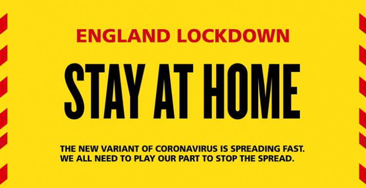 England Lockdown - Stay at Home - a new variant of coronavirus is spreading fast