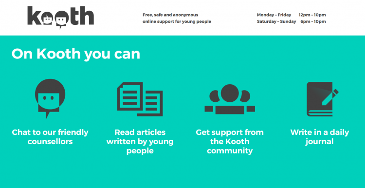 Kooth - What you can do on Kooth