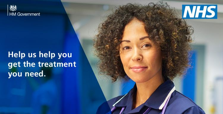 NHS - Help us help you get the treatment you need