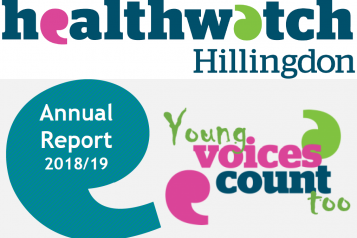 Healthwatch Hillingdon Annual Report 2018-19 Front Cover