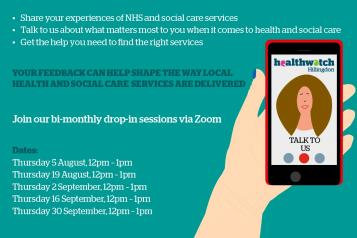 Healthwatch Hillingdon Drop-in Sessions