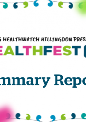 Young Healthwatch Hillingdon Healthfest202 Report Summary